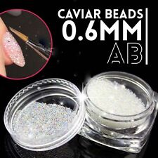 0.6mm Decoration Nails Art Beads AB Crystal Glass Caviar 3D Micro Tiny