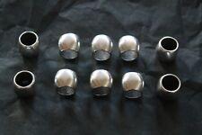 pour fabrication bijoux: perle lisse passant 12x15mm pour corde 10mm lot de 10