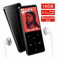 SUPEREYE 16GB MP3 Players, 2.4Inch Large Screen Music Player with Bluetooth 4.2,
