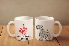 "Kerry Blue Terrier - ceramic cup, mug ""I love"", Ca"