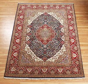 Oriental Hand Knotted Wool Area Rug Geometric 'Agamali' Handmade 5x7 Ft Carpet