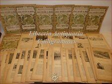 Collezione 34 fascicoli BIBLIOTECA ILLUSTRATA dei VIAGGI INTORNO AL MONDO 1899