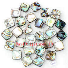 12mm Natural Abalone Shell MOP Rhombic Shape Gemstone Loose Beads Strand 15""
