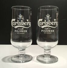 Carlsberg Pilsner Lager Pint Chalice Glass x2 **NEW STYLE** New And Unused