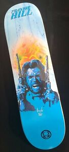 """Frankie Hill Signed Blue 2 Guns Numbered to 50 Autograph Skateboard 8.25"""" Deck"""