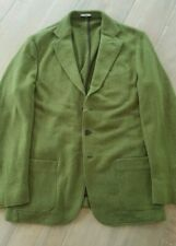 NWT $2700 TWIN DDM CASHMERE HERRINGBONE GORGEOUS GREEN DECONSTRUCTED KNIT XL 44