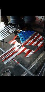 Metal Punisher American flag
