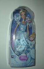 2011 DISNEY PRINCESS CINDERELLA DOLL WITH RING & SLIPPERS FREE SHIPPING BN