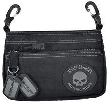 Harley-Davidson® Women's Willie G Rally Hip Black Nylon Purse Bag RL7251S-GRYBLK