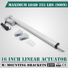 """16"""" Inch Silver Linear Actuator Stroke 225 Pound Max Lift Output 12V Volt DC"""