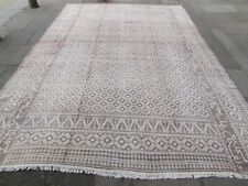 Old Traditional Hand Made Persian Oriental Cotton Beige  Kilim Ziloo 437x317cm