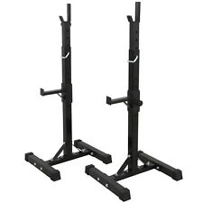 2pcs Gym Fitness Adjustable Squat Rack Bench Press Weight Lifting Barbell Stand