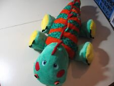 "24"" plush Stuffies Dinosaur pillow w/zipper mouth and pouch, good condition"