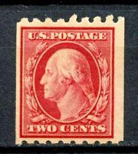 SCOTTT # 391 - SINGLE TWO CENT WASHINGTON STAMP - F (FINE) - OG - HINGED - MINT