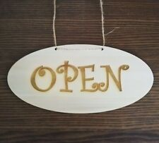 open & Closed sign, business Sign - Wooden sign - double sided