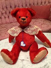Teddy Bear Artist Gail Holt of Passing Fancies 16 inches Red Mohair Bear