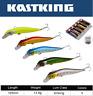 "KastKing 5PC 4"" Multi Jointed Fishing Lure Bait Bass Crank Minnow Swimbait Life"