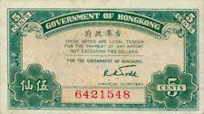 Hong Kong P-314 5 cents (1941) XF