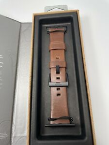 Horween Leather Nomad Modern Strap for Apple Watch 44mm and 42mm Rustic Brown