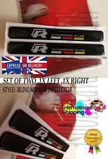2PCS VW RLINE Decal Sticker Car Rearview Mirror Anti-collision Edge Protector UK