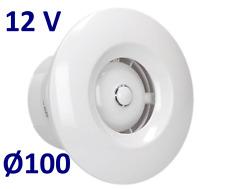 "Silent bathroom kitchen ceiling extractor fan 4"" - low voltage 12V + check valve"