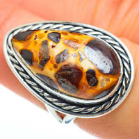Chert Breccia 925 Sterling Silver Ring Size 7.25 Ana Co Jewelry R45126F