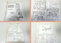 Betriebsanleitung + Ersatzteilliste Genkinger BEG1016 Stapler ca 1976