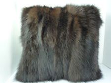 Real Brown Fox Sections Fur Pillow New  made in usa genuine fur cushion