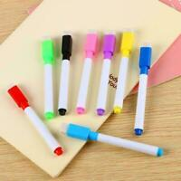 Black White board Marker Dry Pen With Eraser Easy Wipe Price Low Lid Black M8D5