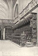 AIN. Brou. Stalles, de Profil 1895 old antique vintage print picture