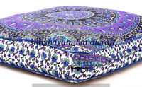Large Indian Ombre Mandala Floor Pillows Cushion Covers Square Ottoman Daybed
