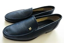 STEFANO RICCI Blue Grain Leather with Silver Eagle Shoes Size 9 US 42 Euro 8 UK
