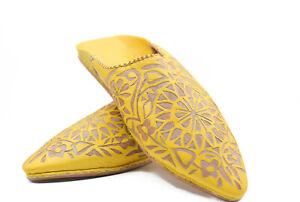 women house slipper soft sole Moroccan sheepskin mule leather bridesmaid slipper