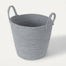 Round Rope Floor Basket with Handles Woven Storage Baskets for Laundry Large F1