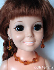 """ORANGE Jewelry Set for 18"""" Ideal Crissy Doll Necklace and Bracelet NO DOLL"""