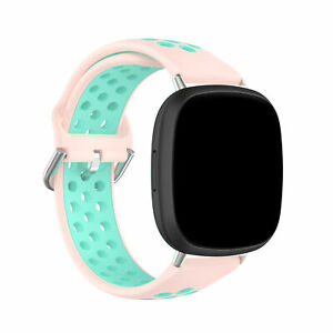 For Fitbit Versa 3 / Sense Soft Breathable Silicone Watch Band Wrist Sport Strap