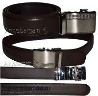 New Men's leather dress belt/Casual belt quick-lock Brown unbranded leather belt