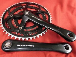 VGC 2002 Cannondale PX Black Triple Crankset 52/42/30 x 172.5 mm Made in Japan
