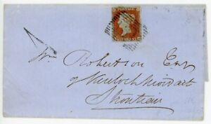 """SCOTLAND Rare 1862 cover with Strontian """"1""""d local delivery charge handstamp"""