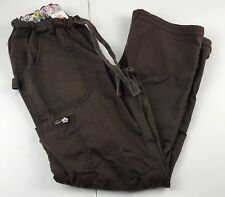 Koi XS Lindsey Scrub Cargo Pants #701 Brown Uniform Medical Nurse Scrubs