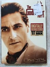 New The Godfather Part Ii Dvd Coppola Restoration Remastered Classic Sealed