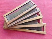 Lot de 5 anciens peignes de métier à tisser Jacquard-cadres en bois