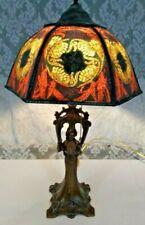 Bride Lady Lamp slag beaded glass shade- Handel Tiffany arts & crafts art deco
