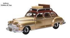 HO Scale Car - Desoto Suburban 1946 - Brown/Gold