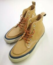 Converse All Star Womens Leather High Shoes, Size 4, Brown, Very Good Condition