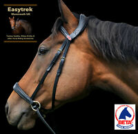 New Easytrek Anatomical Bitless Leather Bridle with Quality Gripper Reins