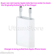 100% Original Apple USB Power Adapter Charger 5W MD813ZM/A for iPhone 3 4S 5S 6+