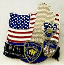 Limited Edition 9/11 Memorial Pin Twin Towers US FLag First Responders