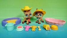 Littlest Pet Shop LPS Fanciest Fuzzy 2 GREAT DANE lot #636 Rare + Accessories