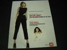TAYLOR SWIFT and Idina Menzel DUAL 2014 PROMO POSTER AD mint condition